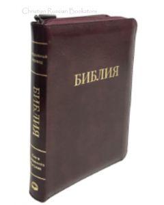 Библия 055 ZTI  Темно вишневого цвета